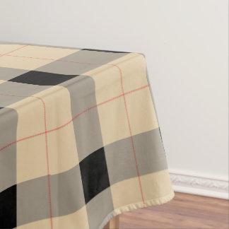 Black and brown Plaid / tartan pattern table cloth