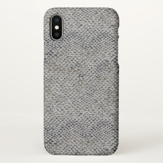 Black and Brown Snake Skin Pattern iPhone X Case