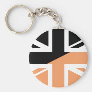 Black and brown Union Jack British(UK) Flag Keychains