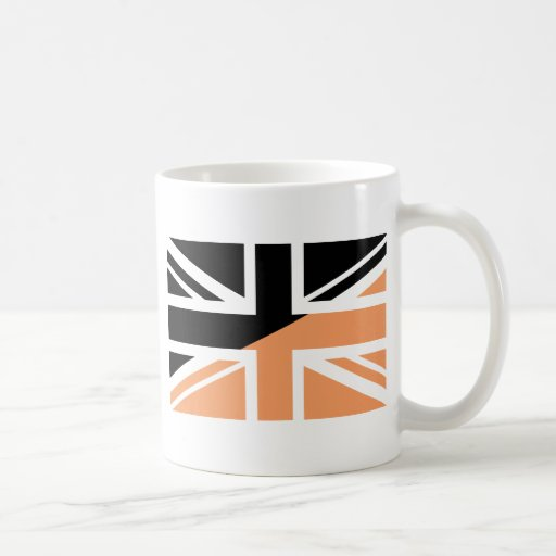 Black and brown Union Jack British(UK) Flag Mug