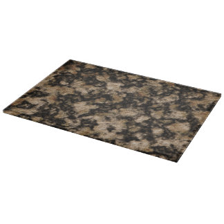 Black and Caramel Faux Granite Stone Texture Cutting Boards