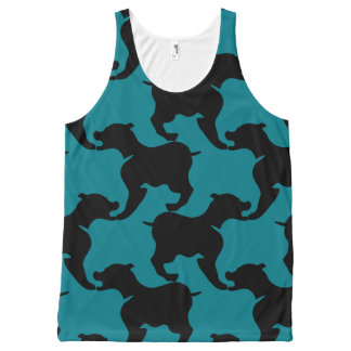 Black and Choose colour Houndstooth Dogs Tank Top All-Over Print Tank Top