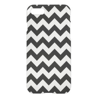 black and clear chevron stripes iPhone 7 case