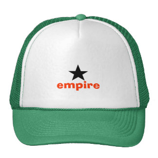 Black and Coral Empire Star Pattern Trucker Hat