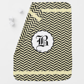 Black and Corn Field Yellow Monogram Buggy Blanket