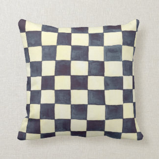 Black and Cream Check Pillow