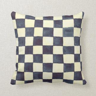 Black and Cream Check Pillow Throw Cushion