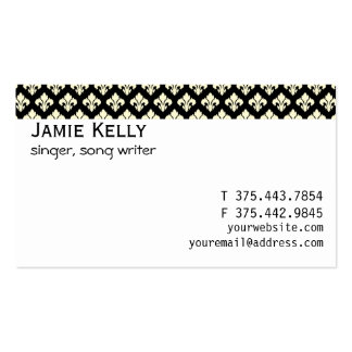 Black and cream fleur de lis business card templates