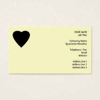Black and Cream Love Heart Design.