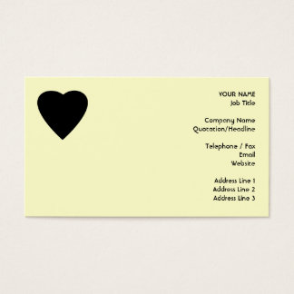 Black and Cream Love Heart Design. Business Card