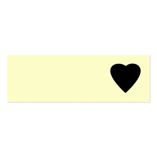Black and Cream Love Heart Design. Business Card Template