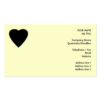 Black and Cream Love Heart Design. Pack Of Standard Business Cards