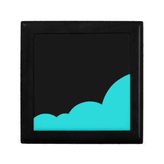 Black and cyan gift box