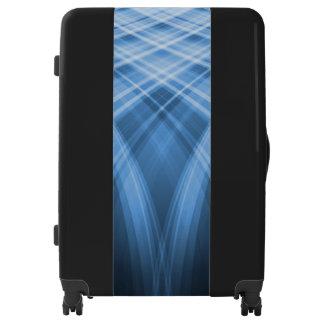 Black and Dark Blue Large Sized Luggage Suitcase