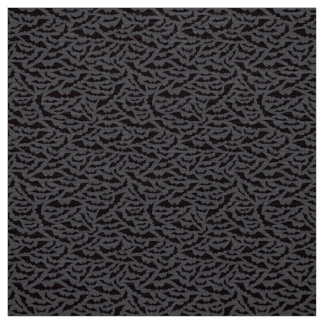 Black and dark gray bat pattern Halloween craft Fabric