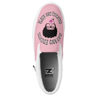 Black and Educated Zips Sneakers