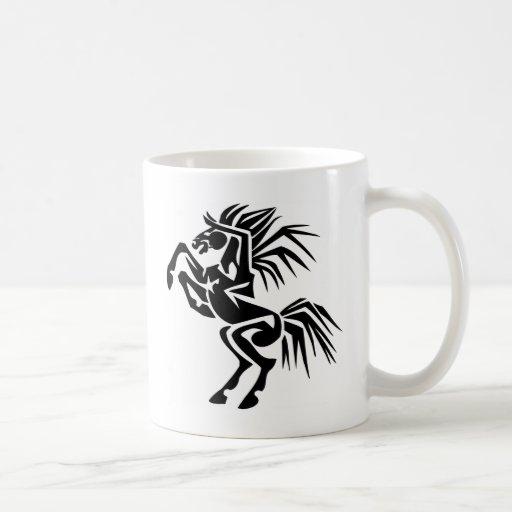Black and Excited Horse Mug