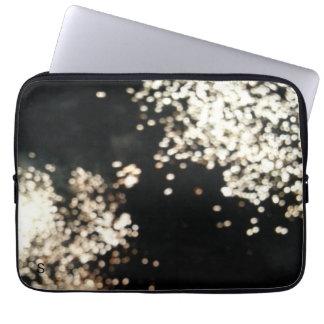 Black and Fireworks Laptop Case