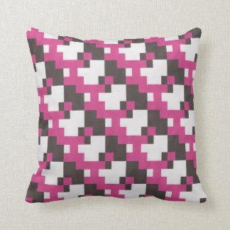 Black and fuschia toss pillow
