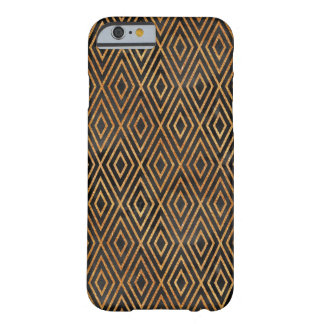 Black and Gold Abstract Barely There iPhone 6 Case