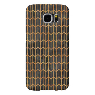 Black and Gold Abstract Pattern Samsung Galaxy S6 Cases