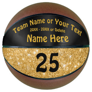 Black and Gold Basketball Personalised for Girls
