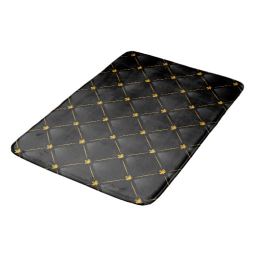 Black And Gold Bath Mat Bath Mats Zazzle