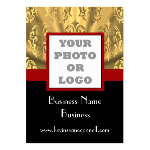 Black and gold bling  photo logo business cards