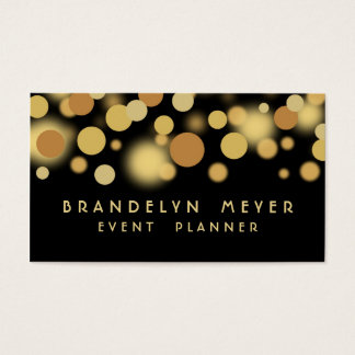 Black and Gold Bokeh Dots Business Card