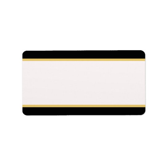 Black and Gold Border Address Label