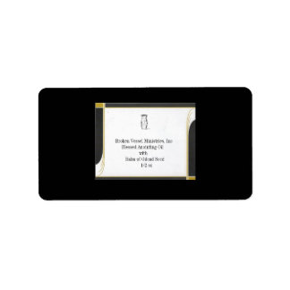 BLACK AND GOLD BORDER FOR USE WITH LABELS