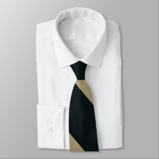 Black and Gold Broad University Stripe Tie