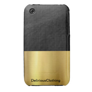Black and Gold Case iPhone 3 Case