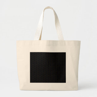 Black and Gold Chicken Wire Hexagon Pattern Design Large Tote Bag