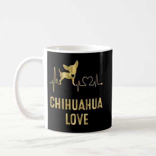 Black And Gold Chihuahua Love Classic Mug