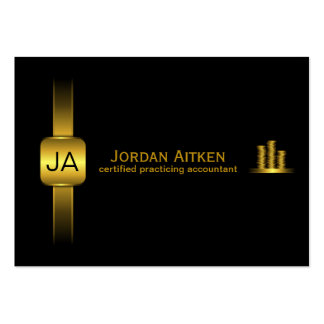 Black and Gold Coins CPA Accountant Business Cards Business Cards