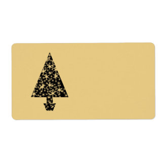 Black and Gold Color Christmas Tree Design.