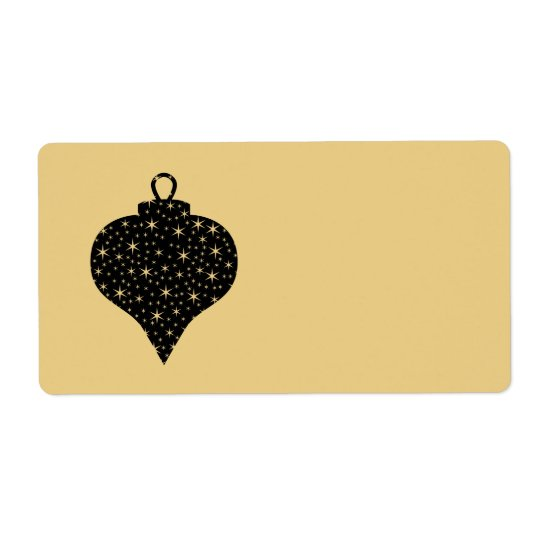 Black and Gold Colour Christmas Bauble Design.
