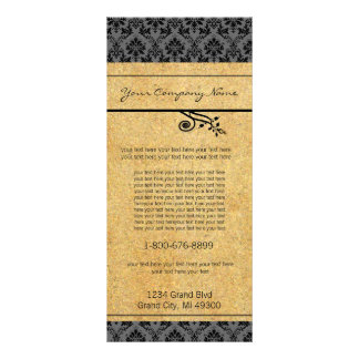 Black and Gold Damask  Rack Card
