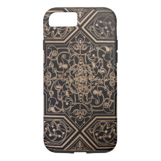 Black and Gold Decorative Tile iPhone 7 case