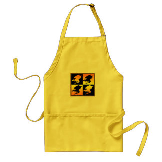 Black and Gold Dragons Apron