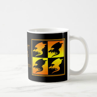 Black and Gold Dragons Basic White Mug
