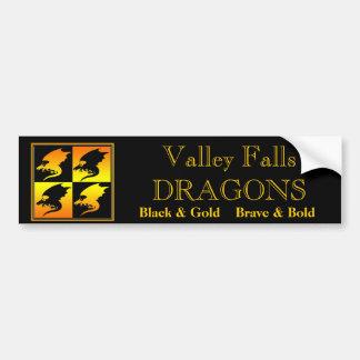 Black and Gold Dragons Bumper Sticker
