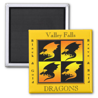 Black and Gold Dragons Magnets