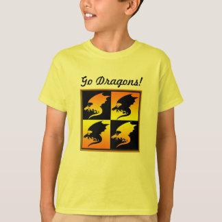 Black and Gold Dragons T Shirts