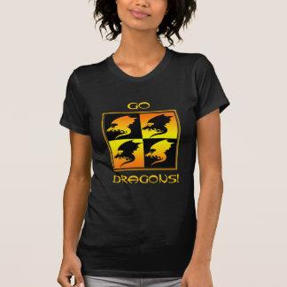 Black and Gold Dragons Tshirts
