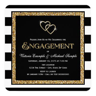 Black And Gold Invitations & Announcements | Zazzle.com.au