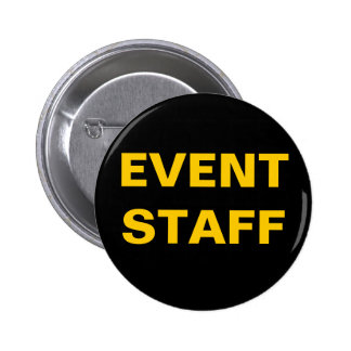 Black and Gold EVENT STAFF ID Badge