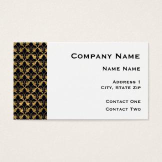 Black and Gold Fleur De Lis Border Business Card