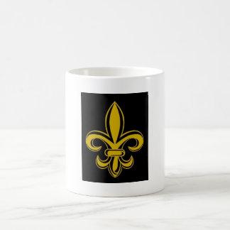 Black and Gold Fleur de lis Mug